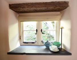 Slate sill in sitting room